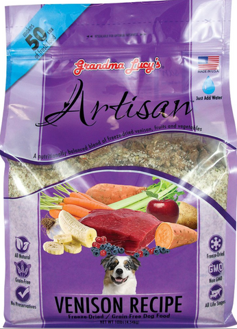 Grandma Lucy's® Artisan™ Freeze Dried Grain Free Venison Recipe Dog Food