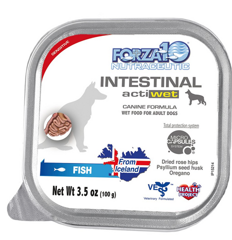 FORZA10  Nutraceutic Actiwet Intestinal Support Icelandic Fish Recipe Canned Wet Dog Food