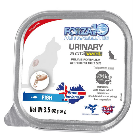 FORZA10 Nutraceutic Actiwet Urinary Support Icelandic Fish Recipe Canned Wet Cat Food