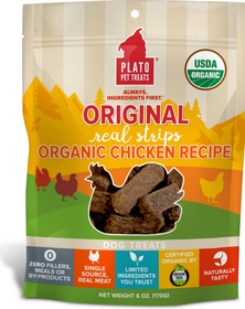 Plato Original Real Strips Chicken Dog Treats