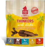 Mini Plato Thinkers Grain Free Carrot, Turkey & Peanut Butter Meat Stick Dog Treats