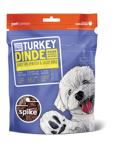 Petcurean SPIKE™ Grain Free Turkey Jerky for Dogs