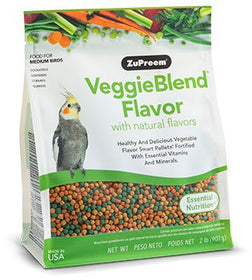 ZuPreem VeggieBlend Flavor Medium Birds Bird Food