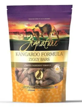 Zignature Ziggy Bar Kangaroo Formula Biscuit Dog Treats
