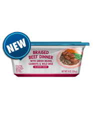 BLUE Adult Braised Beef with Green Beans, Carrots & Wild Rice Wet Dog Food  8-oz (Pack of 8)