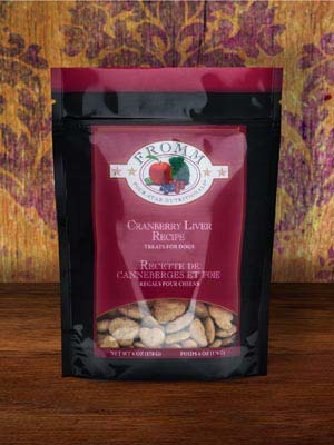 Fromm 4 Star Dog Treat GF Low Fat Cranberry Liver 6 oz pouch