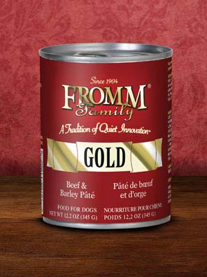 Fromm Gold Dog Can Beef & Barley Pate' 12.2 oz case of 12
