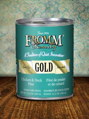 Fromm Gold Dog Can Chicken & Duck Pate' 12.2 oz case of 12