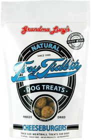 Grandma Lucy's® Tiny Tidbits Freeze Dried Cheese Burgers Snack Size Meatball Dog Treats