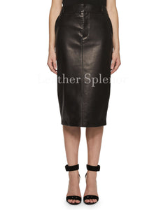 Pencil Women Classic Leather Skirt