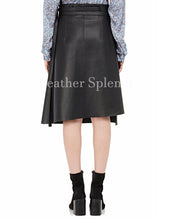 Wrap Up Style Women Leather Skirt
