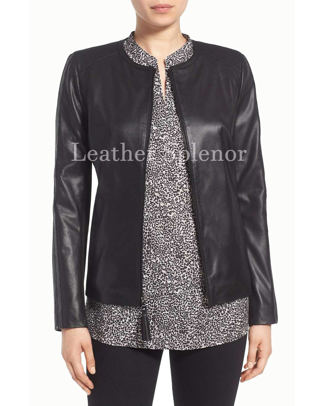 Classic Women Leather Jacket