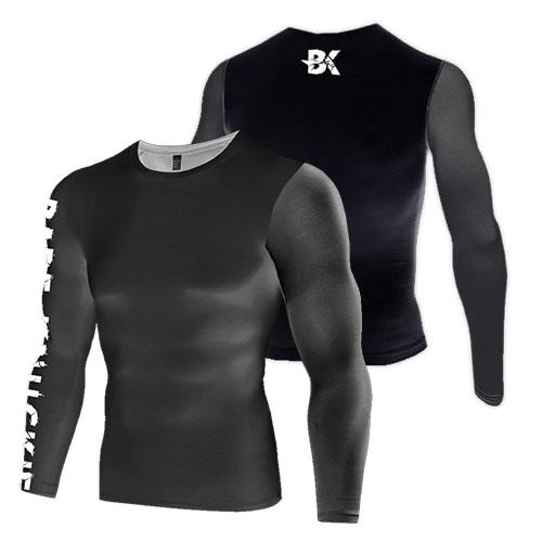 Pure Black Compression Top