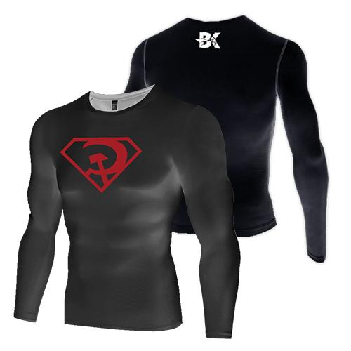 Superman Red-Son Compression Top