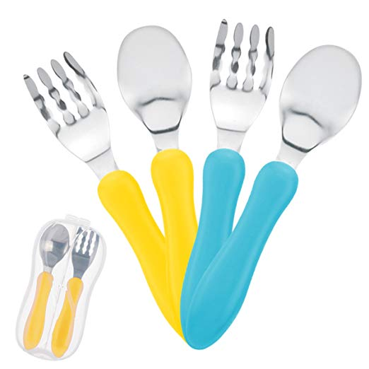 Toddler Stainless Fork And Spoon Set