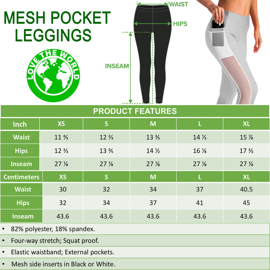 MESH POCKET LEGGINGS | 1sttheworld.com