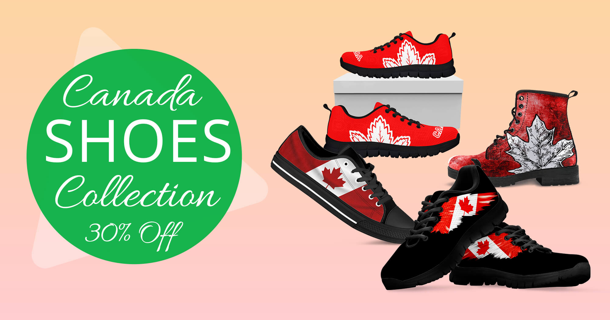 81f7b45c3d Canadian Flag Shoes Collection - Love The World – LoveTheWorld