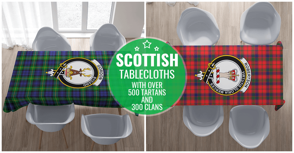Tartan Tablecloth - Scottish Clans | 500 Tartans and 300 Clans