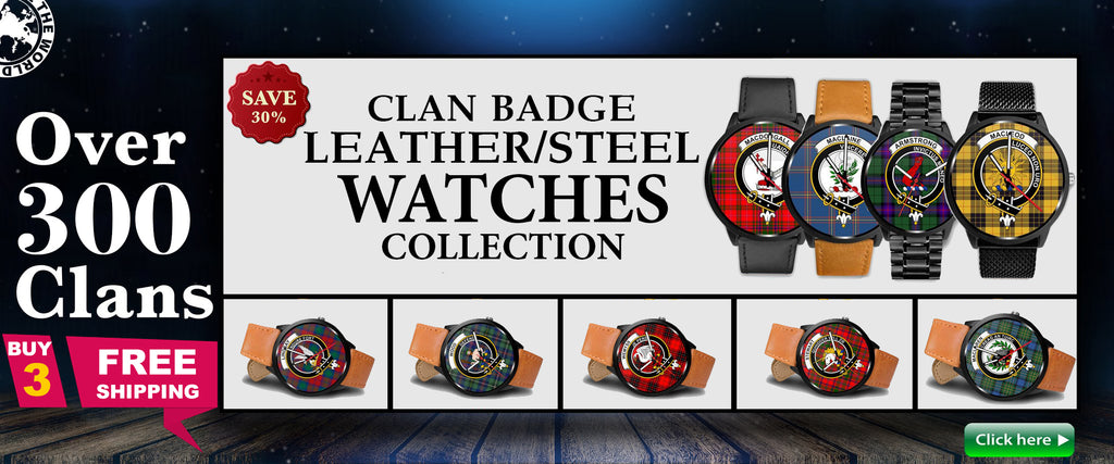 tartan, scottish, scotland, watch, watches, leather/steel watch