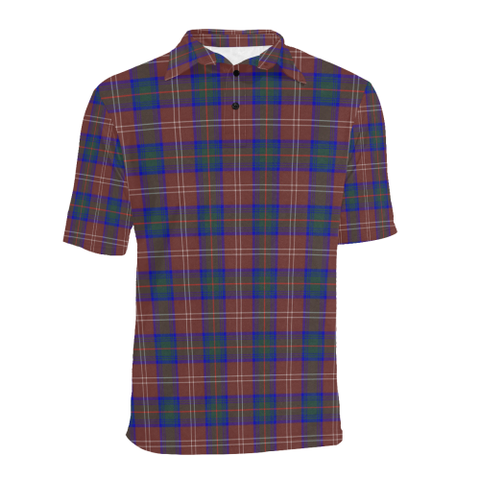 Image of Chisholm Hunting Modern  Tartan Polo Shirt HJ4