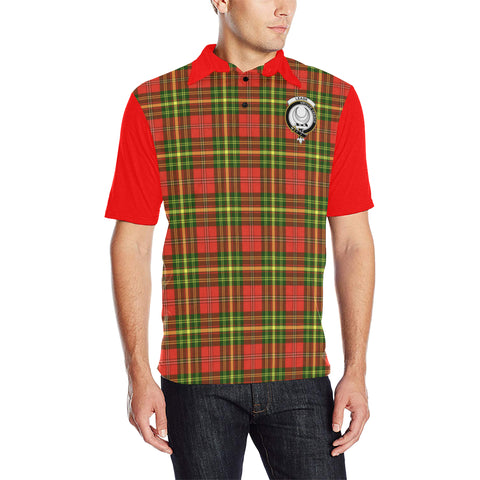 Image of Leask Clans Tartan Polo Shirt - Sleeve Color