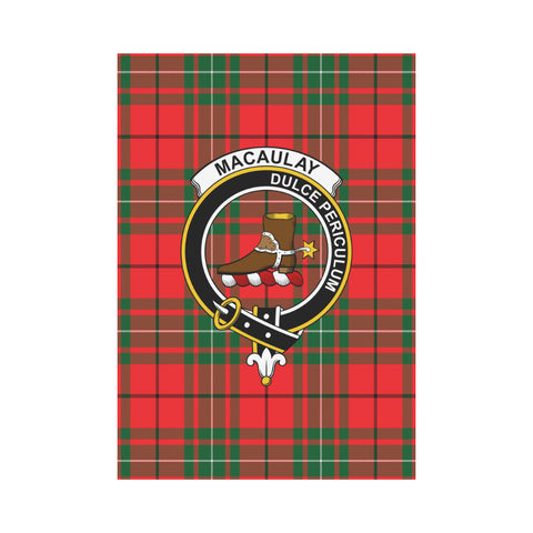 Macaulay Tartan Flag Clan Badge K7