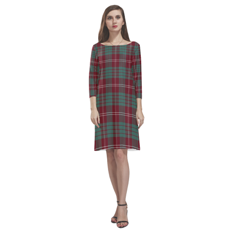 Crawford Modern Tartan Dress - Rhea Loose Round Neck Dress NN5