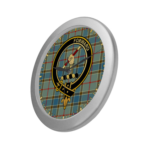 Image of BALFOUR CLAN TARTAN WALL CLOCK A9