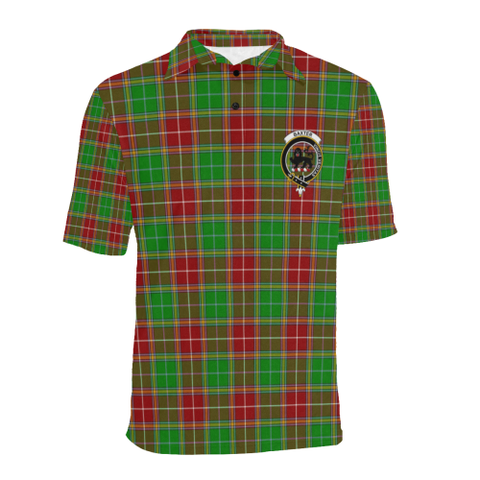 Baxter Modern Tartan Clan Badge Polo Shirt HJ4
