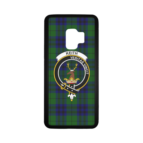 Keith Tartan Clan Badge Rubber Phone Case