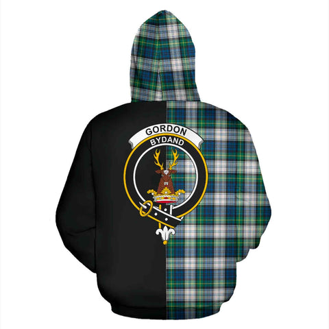 Gordon Dress Ancient Tartan Hoodie Half Of Me - Stretchh TH8