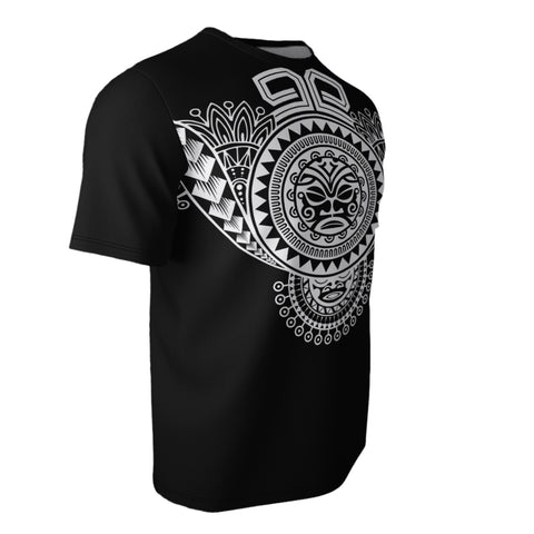 Image of Polynesian Tiki Mask All Over T-Shirt Bn10
