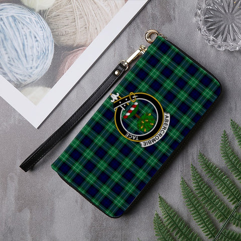 ABERCROMBIE TARTAN CLAN BADGE ZIPPER WALLET HJ4