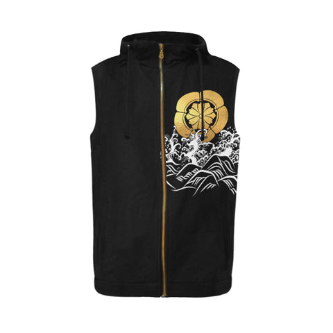 The Golden Koi Fish Zipper Sleeveless Hoodie | Highest Quality Standard