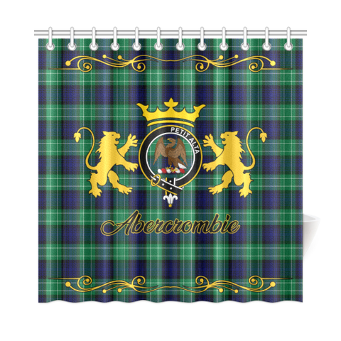 Tartan Shower Curtain - Abercrombie (or Abercromby) Clan | Scottish Home Set | Over 300 Clans