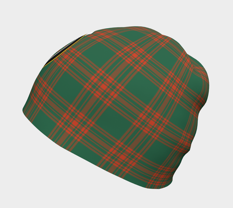Image of Menzies Green Ancient Tartan Clan Crest Beanie Hj4