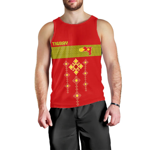 Image of 1stTheWorld Tigray Tank Top, Tigray Round Pattern Flag A10