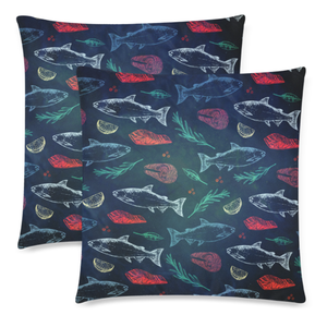 Portugal Pillow Cover - Salmon Fish Pattern Z2