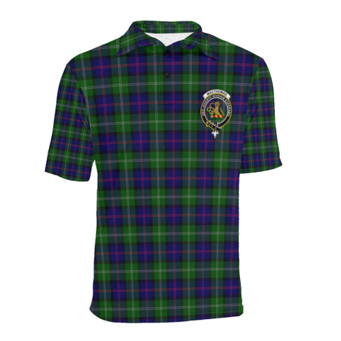 Macthomas Modern Tartan Clan Badge Polo Shirt HJ4