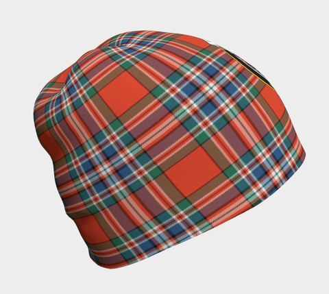 Image of MacFarlane Ancient Tartan Clan Crest Beanie