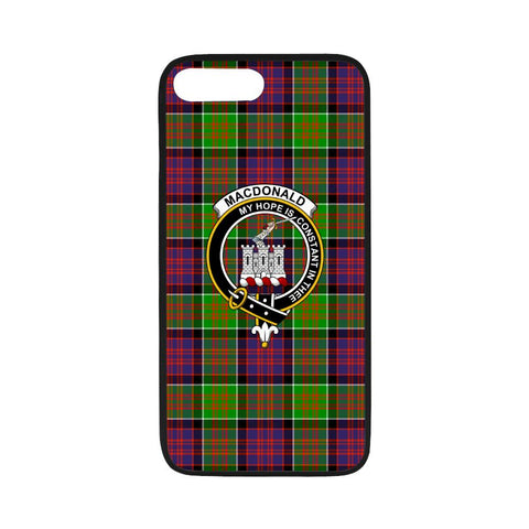 Macdonald Of Clan Ranald Tartan Clan Badge Rubber Phone Case HJ4