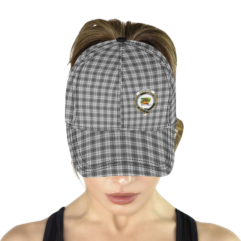 Douglas Grey Modern Clan Badge Tartan Dad Cap - BN03