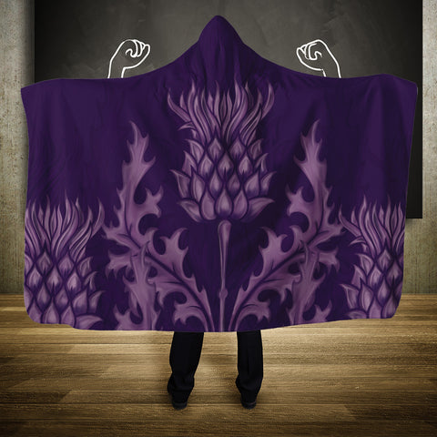 Scotland Hooded Blanket - Purple Thistle | Hot Sale