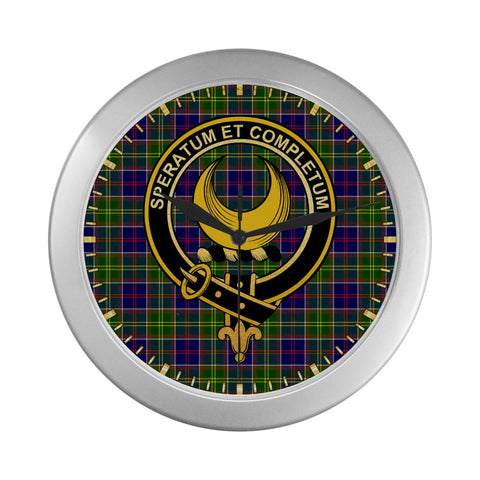 Image of ARNOTT CLAN TARTAN WALL CLOCK A9