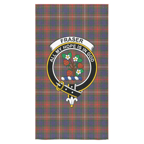 Fraser Hunting Modern Tartan Towel Clan Badge NN5