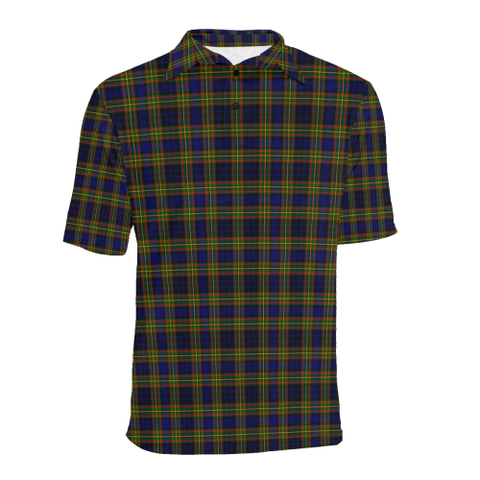 Image of Clelland Modern  Tartan Polo Shirt HJ4