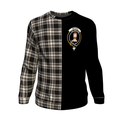Menzies Black & White Ancient Tartan Sweatshirt - Half Style
