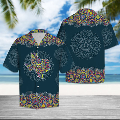 TEXAS MANDALA - HAWAII SHIRT A7