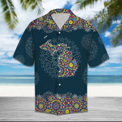 MICHIGAN MANDALA - HAWAII SHIRT A7