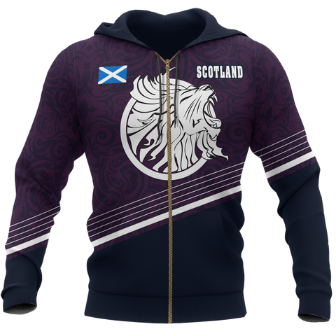 Image of Scotland Hoodie (Zip-up) - Scottish Lion
